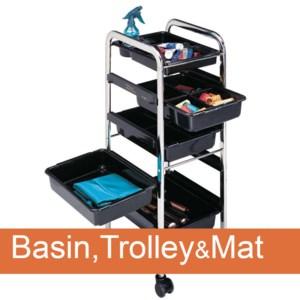 Basin,Trolley&Mat