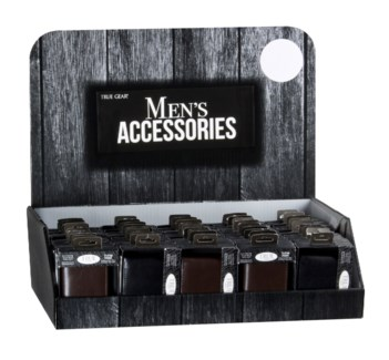 Men's Leather Wallets on Counter Display - 48pc