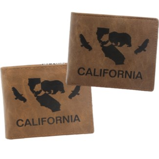 Suede State Wallets - California