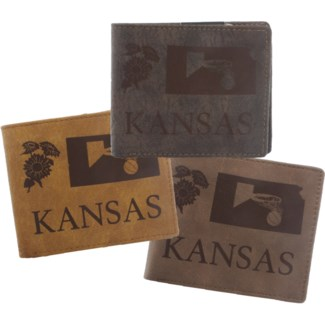Suede State Wallets - Kansas