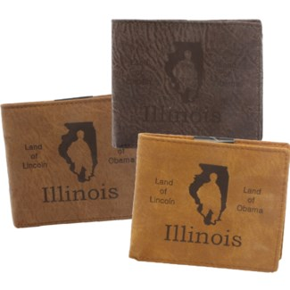 Suede State Wallets - Illinois