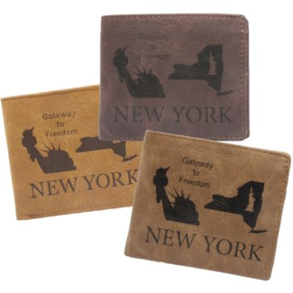 Suede State Wallets - New York