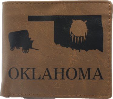 Suede State Wallets - Oklahoma