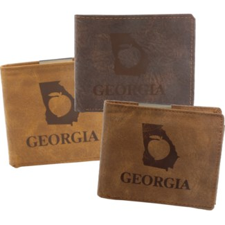 Suede State Wallets - Georgia