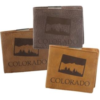 Suede State Wallet - Colorado
