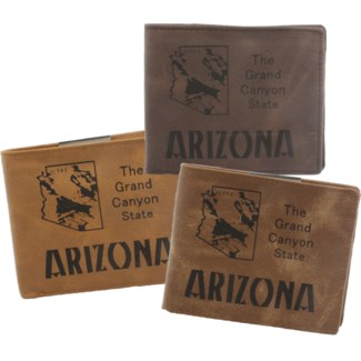 Suede State Wallets - Arizona