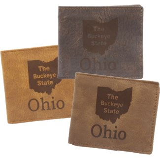 Suede State Wallets - Ohio