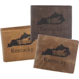 Suede State Wallets - Kentucky