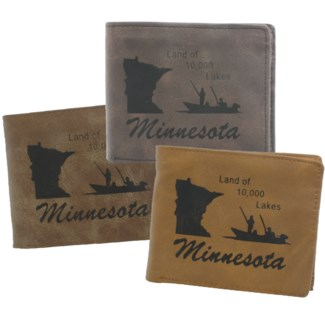 Suede State Wallets - Minnesota