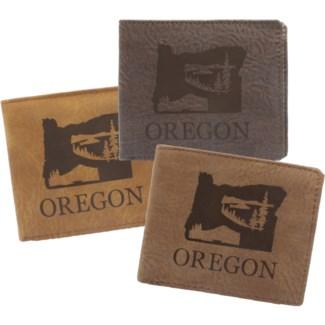 Suede State Wallets - Oregon