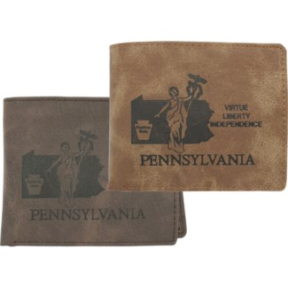 Suede State Wallets - Pennsylvania