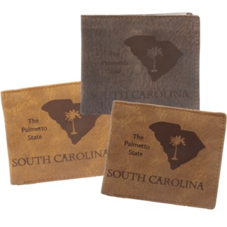 Suede State Wallets - South Carolina