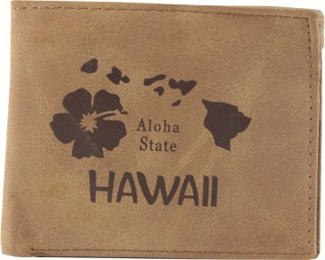 Suede State Wallets - Hawaii