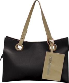 Accordion Laptop Bag with Wristlet Black