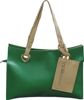 Accordion Laptop Bag with Wristlet Green