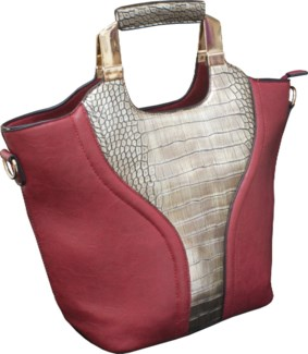 Tote with Reptile Print Red