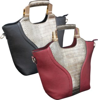 Tote with Reptile Print Mix