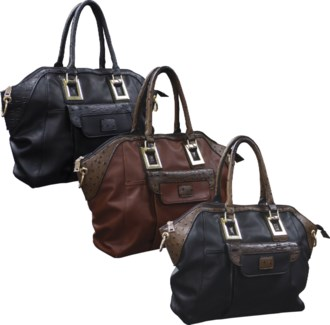 Ostrich Trim Handbag Mix