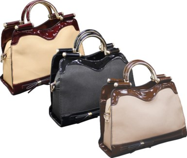 Tote with Metal Handles Mix