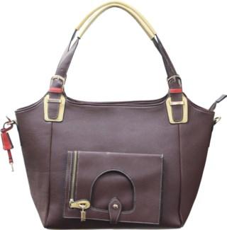 Italian Locket Handbag Brown