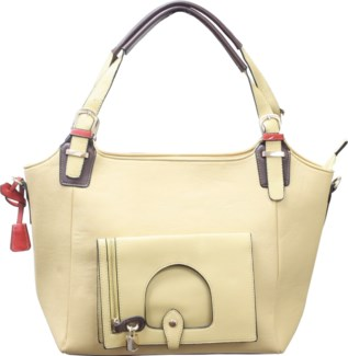 Italian Locket Handbag Tan