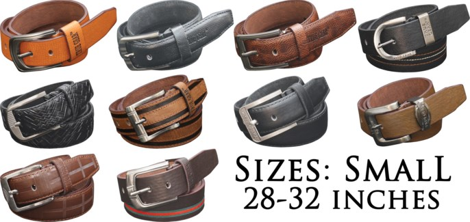 Assorted Men's Leather Belts - Small