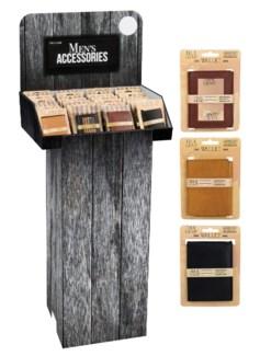 Men's Genuine Leather Wallet Floor Display - 48pcs