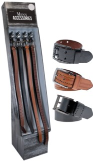 Men's Leather Belts Shipper - 48pc