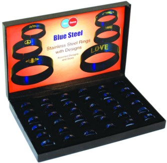 Blue Stainless Steel Ring