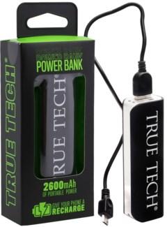 2600 mAh Rubberized Power Bank
