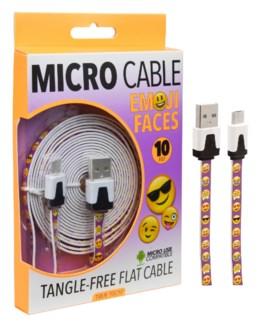 Emoji Micro Cable (10ft)
