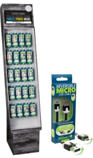 Reversible Micro USB Cable Shipper