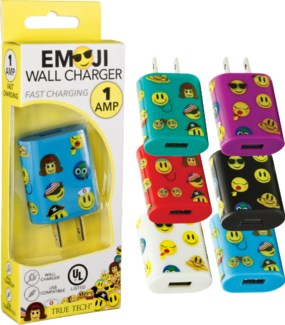 Emoji Wall Charger - UL Listed 1 Amp