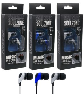 Soulzone Earbuds with Inline Mic