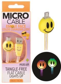 Light Up Emoji Micro Cable