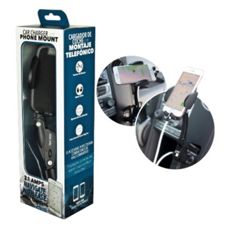 2.1 Amp Car Charger with Phone Mount - Discontinued