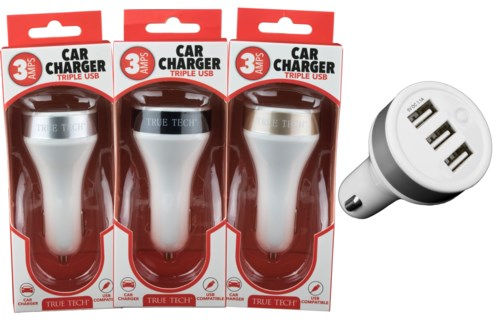 3 Amp Car Charger Triple USB