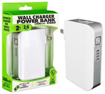 Wall Charger 5000mAh Hybrid Power Bank UL Listed