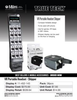 VR Portable Headset Shipper - 36pc