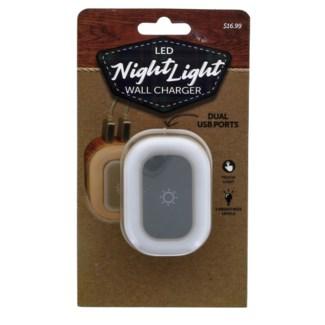 UL Wall Charger - Dual USB with Nightlight
