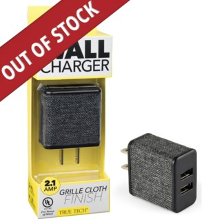 UL Wall Charger - 2.1 Amps with Cloth Finish