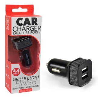 Car Charger - 2.4 Amps with Cloth Finish