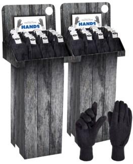 Brown Jersey Gloves Shipper - 144pcs