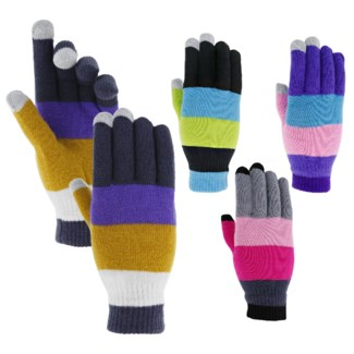 Multicolored Touch Gloves