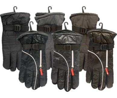 Zipper Ski Gloves
