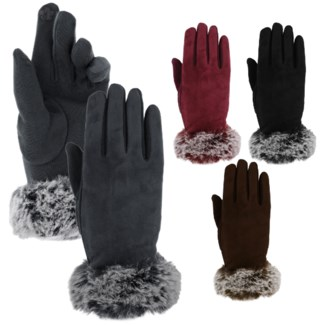 Women's Fur Touch Gloves