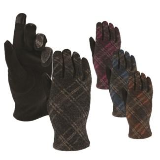 Plaid Texting Gloves