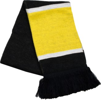 Scarf with Fringe Black/Gold/White  - Stadium Series