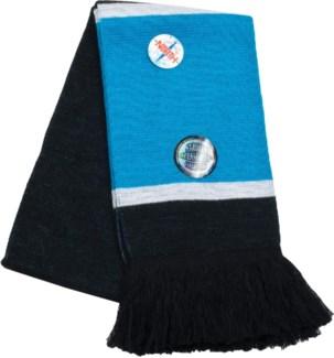 Scarf with Fringe Blue/White/Black  - Stadium Series
