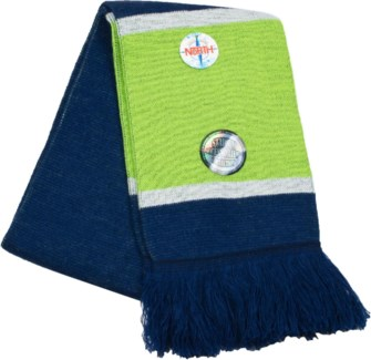 Scarf with Fringe Blue/Green/White  - Stadium Series
